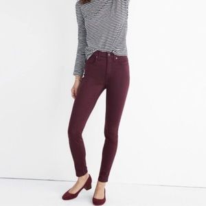 Madewell skinny sateen jeans
